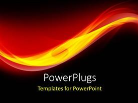PowerPlugs: PowerPoint template with abstract waves
