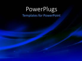 PowerPlugs: PowerPoint template with abstract wavy blue lines on solid black background