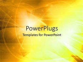 PowerPlugs: PowerPoint template with abstract wavy lines on lighted yellow background