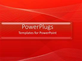 PowerPlugs: PowerPoint template with an abstract of white lines on a red background