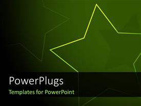 PowerPlugs: PowerPoint template with abstract yellow star over green background