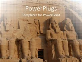 PowerPlugs: PowerPoint template with abu Simbel colossus egypt ancient statues africa