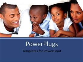 PowerPlugs: PowerPoint template with an African family of four under a white blanket