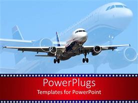 PowerPlugs: PowerPoint template with aircraft