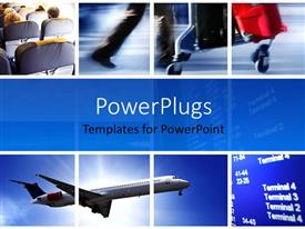 PowerPlugs: PowerPoint template with an airplane and a number of passengers
