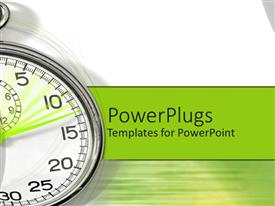 PowerPlugs: PowerPoint template with alarm clock timer fast speed up green background