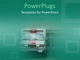 PowerPlugs: PowerPoint template with ambulance in front of emergency room doors