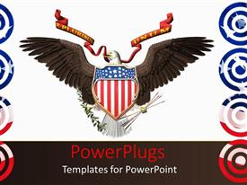 PowerPlugs: PowerPoint template with an America n hawk with white background
