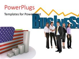 PowerPlugs: PowerPoint template with a number of professionals with an American flag