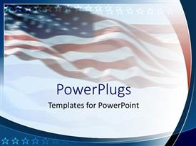 PowerPlugs: PowerPoint template with an American flag in the background