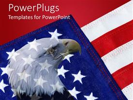 PowerPlugs: PowerPoint template with american flag with bald eagle in background depicting patriotism