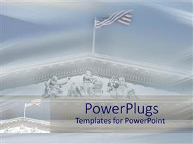 PowerPlugs: PowerPoint template with american flag flying atop US Supreme Court building