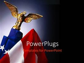 PowerPlugs: PowerPoint template with a hawk with an American flag