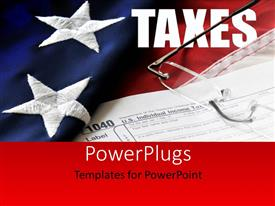 PowerPlugs: PowerPoint template with an American flag with a pair of glasses