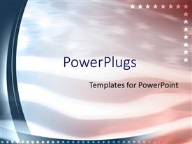PowerPoint template displaying american flag patriotic united states
