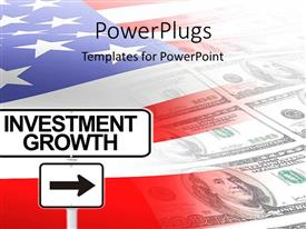 PowerPlugs: PowerPoint template with a colorful background made of American money and flag