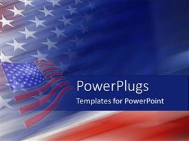 PowerPlugs: PowerPoint template with american flag united states god bless america
