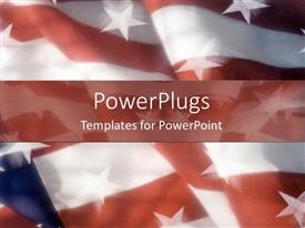 PowerPoint template displaying american flag united states patriotism states strips country