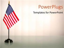 PowerPlugs: PowerPoint template with an American flag with white background