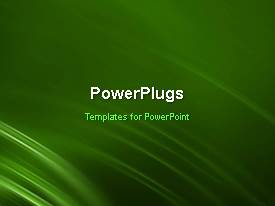 PowerPlugs: PowerPoint template with animated abstract background with curved moving green waves