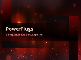 PowerPlugs: PowerPoint template with animated abstract red pattern with gold lights