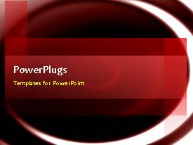 PowerPlugs: PowerPoint template with animated abstract water ripples with orange theme