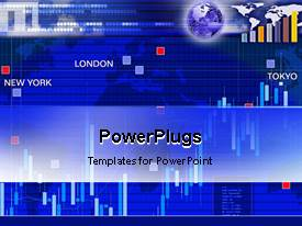 PowerPlugs: PowerPoint template with animated background for currency exchange market in main cities of world new york london tokyo