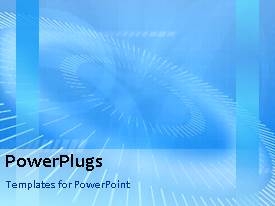 PowerPlugs: PowerPoint template with animated background with multiple rolling circles on blue background
