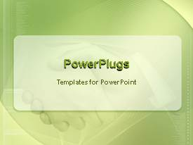 PowerPoint template displaying animated background with shaking hands holding hands fading in the brightly colored background