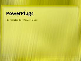 PowerPlugs: PowerPoint template with animated corporate network background with yellow theme