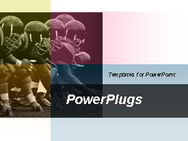 PowerPlugs: PowerPoint template with animated depiction of american football games and football leagues