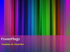 PowerPlugs: PowerPoint template with animated depiction of beautiful color bars with black frame