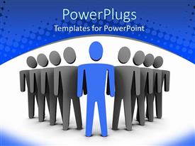 PowerPlugs: PowerPoint template with animated depiction of black and blue human figures standing