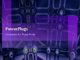 PowerPlugs: PowerPoint template with animated depiction of blue dome interior design