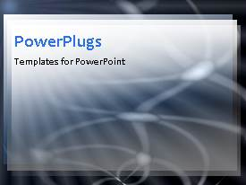 PowerPlugs: PowerPoint template with animated depiction of circling white lines on black background