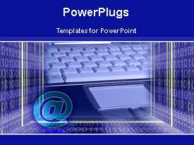 PowerPlugs: PowerPoint template with animated depiction of figures,binary codes and an @ symbol