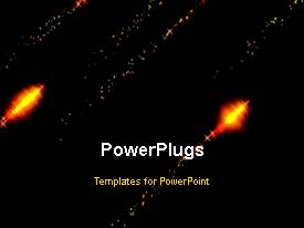 PowerPlugs: PowerPoint template with animated depiction of fireworks in night sky