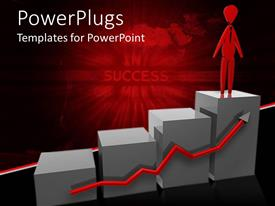 PowerPlugs: PowerPoint template with animated depiction of a four bars with a human
