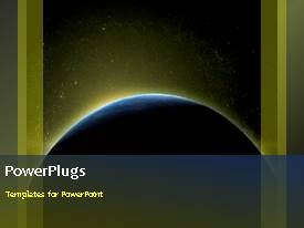 PowerPlugs: PowerPoint template with animated depiction of the galaxy with earth revolving round the sun