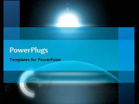 PowerPlugs: PowerPoint template with animated depiction of global network with light glow round earth globe