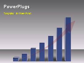 PowerPlugs: PowerPoint template with animated depiction of growth with businessman walking on bar chart