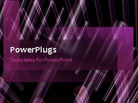 PowerPlugs: PowerPoint template with animated depiction of house blueprint on purple background
