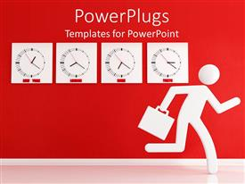 PowerPlugs: PowerPoint template with animated depiction of a human holding a brief case