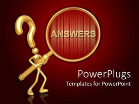 PowerPlugs: PowerPoint template with animated depiction of a human with a question mark head