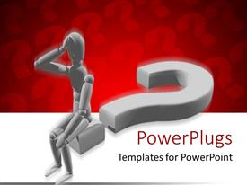 PowerPlugs: PowerPoint template with animated depiction of a human sitting on a question mark