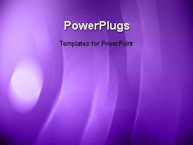 PowerPlugs: PowerPoint template with animated depiction with light glow on purple surface