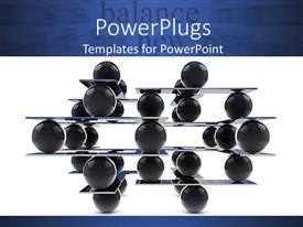 PowerPlugs: PowerPoint template with animated depiction of lots of black balls arranged in layers