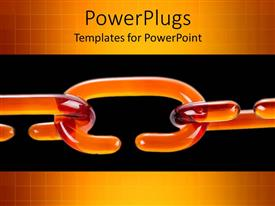 PowerPlugs: PowerPoint template with animated depiction of orange colored chain on black back ground