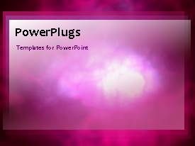 PowerPlugs: PowerPoint template with animated depiction of pink smoke in black background