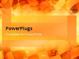 PowerPlugs: PowerPoint template with animated depiction of race flag with speedometer in background